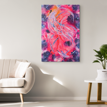 Load image into Gallery viewer, As The Caged Bird Sings Canvas - Acrylic Alchemy