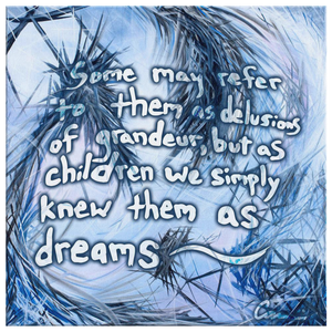 You Called Out For Me And So I Came To You (The Dreamer And The Night Terrors) Quote Canvas - Carini Arts