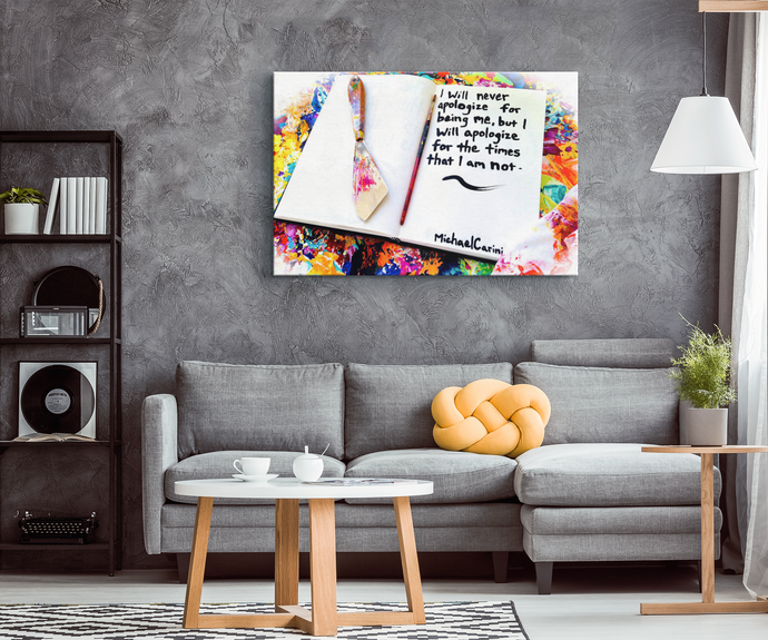 inspirational quote decor from michael carini