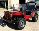 COOLSTER GK-6125A go-kart 125cc Willy WWII Army Jeep RED