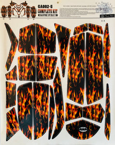 Polaris Outlaw 50 90 110 ATV Quad Graphics Wrap Kits WILD FIRE