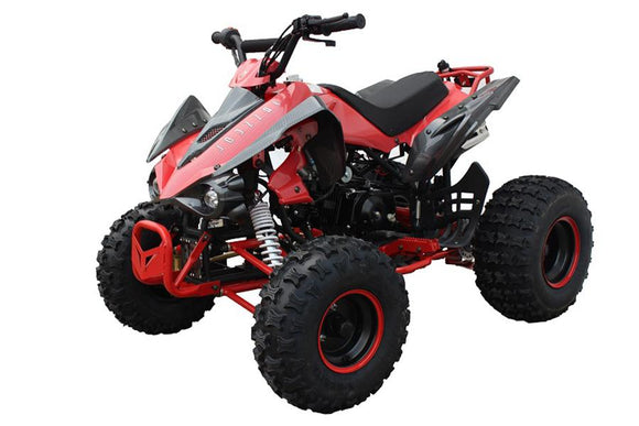 FALCON 125cc AUTO ATV w/ REVERSE MDL-125A43 RED CARBON
