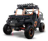 Orange Black 2 Seater utility utv side by side. BMS the Beast 1000 2S.