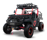 Red Black 2 Seater utility utv side by side. BMS the Beast 1000 2S.