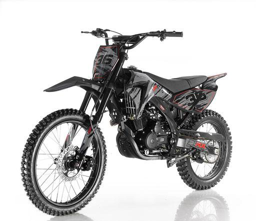 APOLLO 250cc Manual DIRT BIKE BLACK