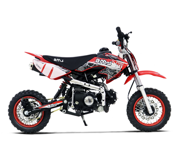 BMS PRO 70 SEMI DIRT BIKE RED