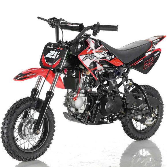 DB-25 70cc Kids Automatic Dirt Bike electric start CA GREEN STICKER