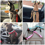 Car Seatbelt Buckle - Shock Absorbing Bungee - Heavy Duty Clasp for Small Medium and Large Dogs