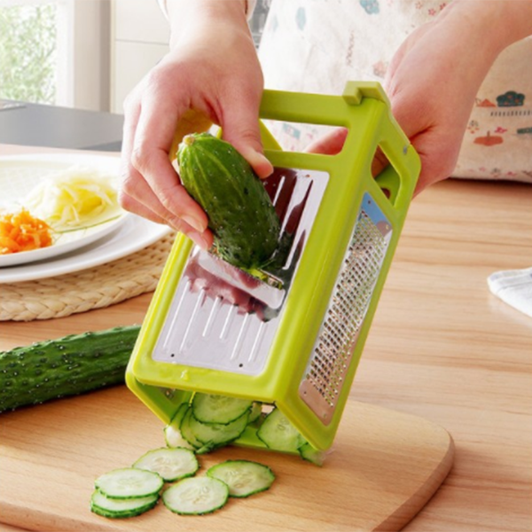 Collapsible Four-dimensional Multipurpose Chopper Slicer-Kitchen & Dining-bsubuy.com-