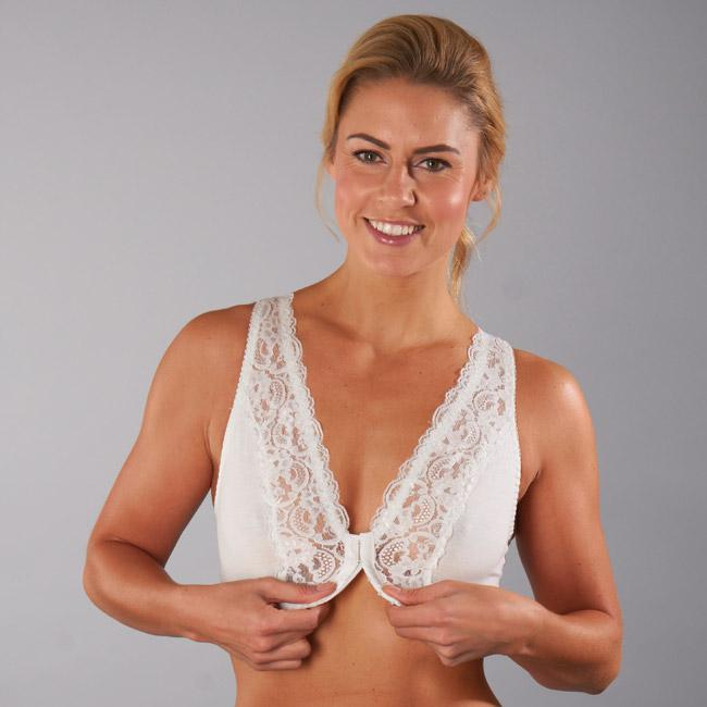 Front Fastening Non-Wired Lace Bra