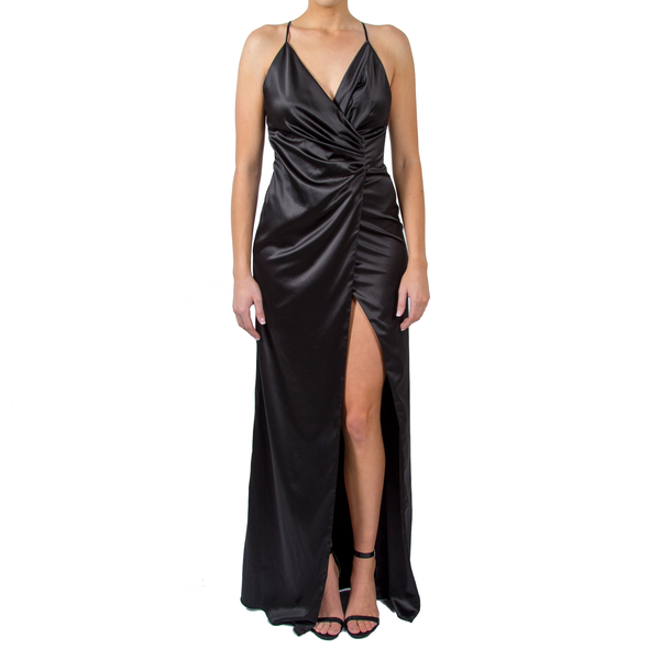 Fairuz Draped Satin Maxi Dress