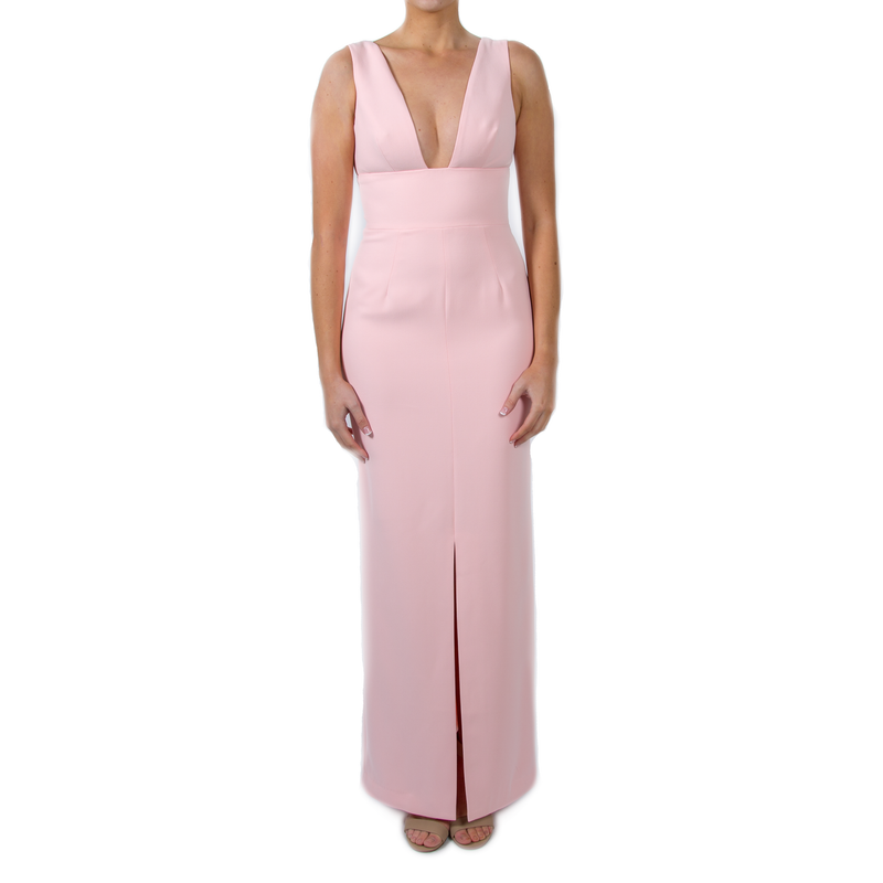 Narelle Baby Pink Plunge Neck Maxi