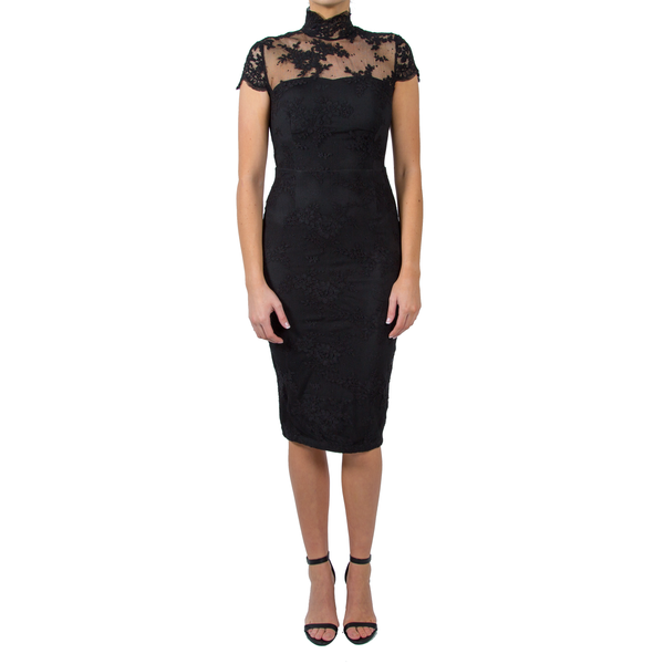 Harmony Black Lace Dress
