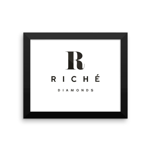 Riché Diamonds Framed poster