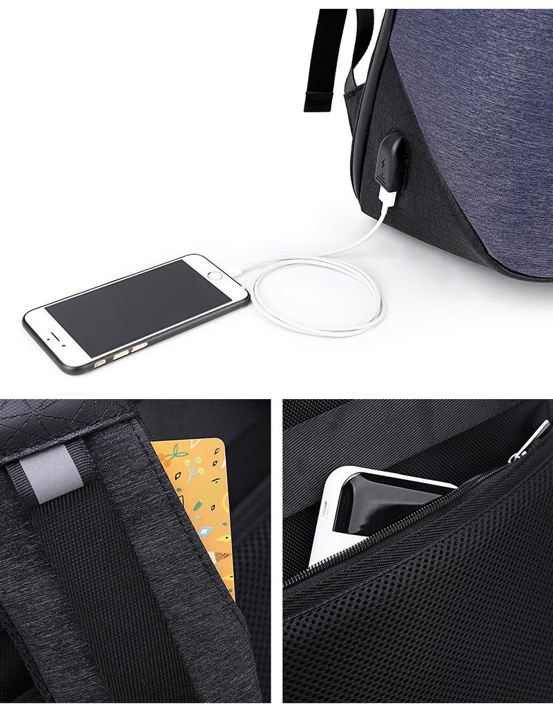 USB Charge Port Waterproof Backpack