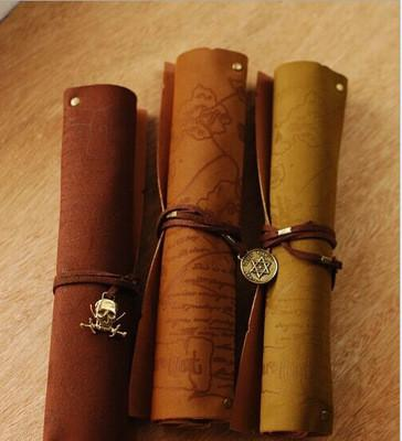 Image of Leather Pencil and Makeup Scroll