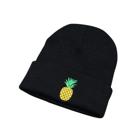 Pineapple Embroidered Beanie