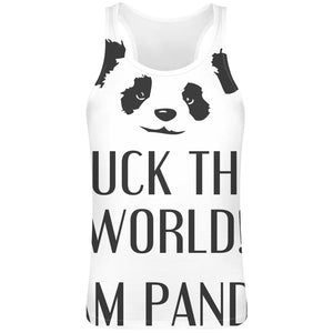 F**k The World I'm Panda  Sublimation Male Tee