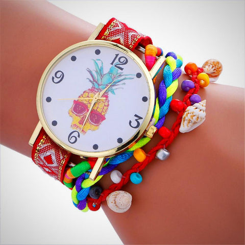 Pineapple Skull Watch