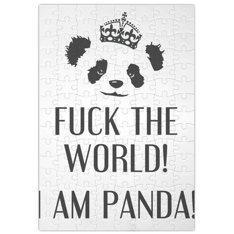 F**k The World I'm Panda  Jigsaw Puzzle
