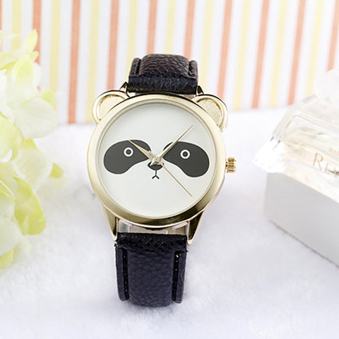 *2018* Panda Face Watch Leather Quartz
