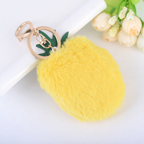 Pineapple Cell Phone Key Ring