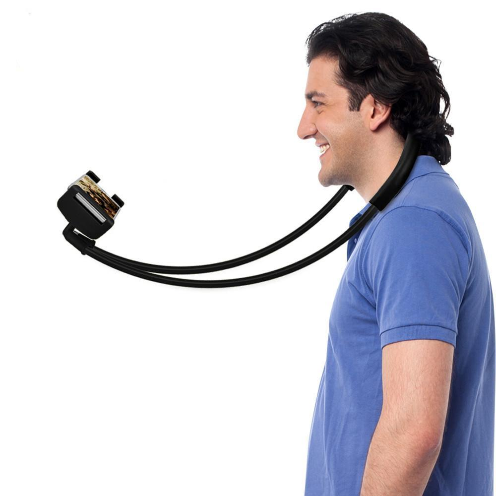 NECK HANGING FLEXIBLE SMARTPHONE HOLDER n' SELFIE STICK