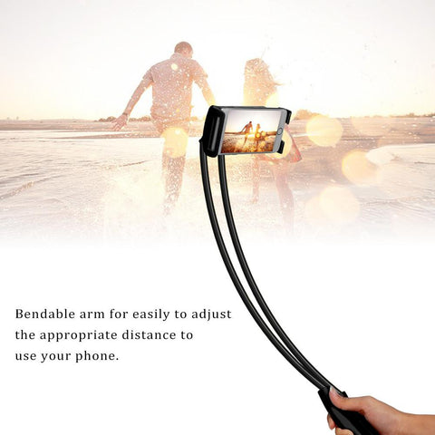 Image of NECK HANGING FLEXIBLE SMARTPHONE HOLDER n' SELFIE STICK