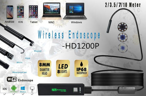 Image of USB Micro Camera for Android/iOS - Semi Rigid Tube Wireless Endoscope