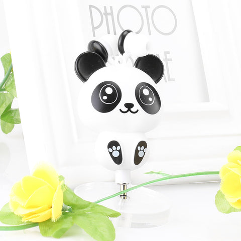 Image of Cartoon Panda Retractable Retractable Earbuds