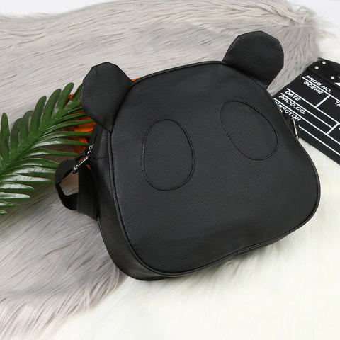 Image of Cute Leather Panda Handbag