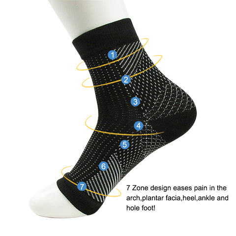 Image of Dropshipping Comfort Foot Anti Fatigue women Compression socks Sleeve Elastic Men's Socks Women Relieve Swell Ankle sokken
