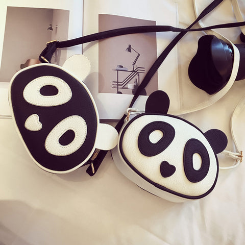 Leather Panda Crossbody