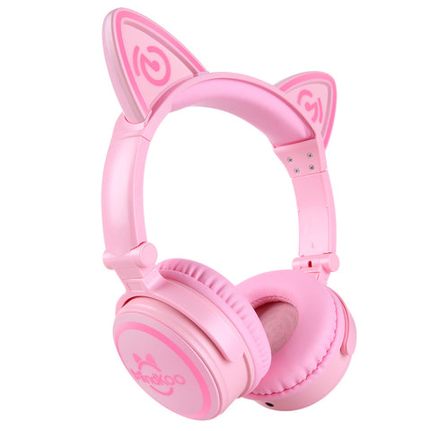 Image of Cat Ear Headphones Wireless LED