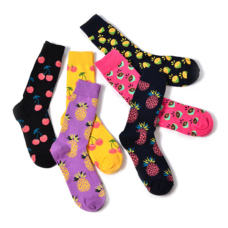 Skate Socks™ Fruit: Pineapple, Lemon, Cherry
