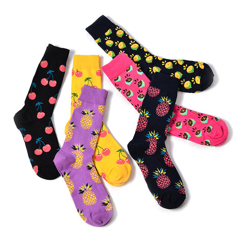 Image of Skate Socks™ Fruit: Pineapple, Lemon, Cherry