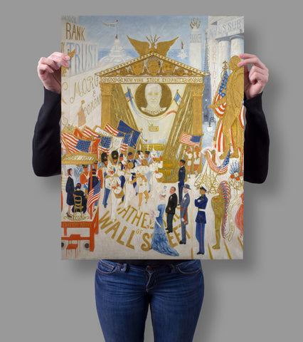 The Cathedrals of Wall Street by Florine Stettheimer 18x24 Poster