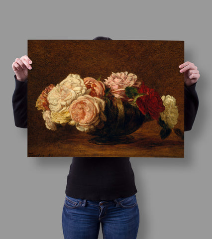 Roses in a Bowl by Henri Fantin-Latour 18x24 Poster