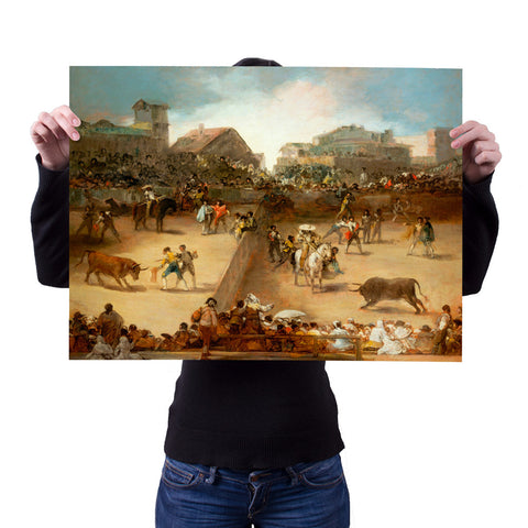 Bullfight in a Divided Ring by Goya 18x24 Poster