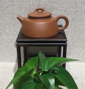 "purple clay teapot by master 曹兰芳 清水泥""鱼罩"" - Old Village Puer 老寨古茶"