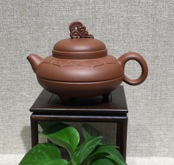 "Zisha teapot by master 曹燕萍 清水泥""宝泉"" - Old Village Puer 老寨古茶"