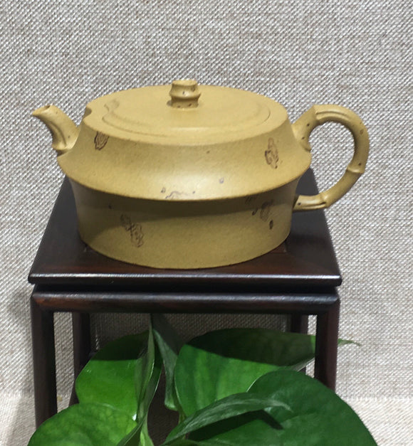 "purple clay teapot by master 张轲 黄金段泥""眉禄"""