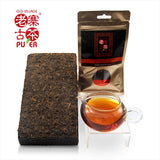 Mt. Hekai fermented PuEr tea cake (Brick), arbor trees, 2006 贺开山 老树普洱熟茶 - Old Village Puer 老寨古茶