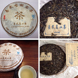 Mt. Yiwu Raw PuEr tea cake, Gaoshan village ancient trees, 2014 Spring 易武山古树普洱生茶,高山寨 - Old Village Puer 老寨古茶