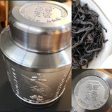 OVP Premium Oolng Tea Da Hong Pao ( Scarlet Robe tea) Loose Tea in Tin with wooden gift box, Vintage 1983 - Old Village Puer 老寨古茶