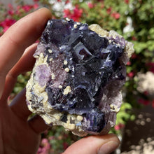 Load image into Gallery viewer, Ghost Eye Fluorite w/ Calcite & Pyrite.
