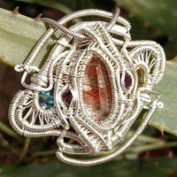 Sterling Silver Wire Wrapped Crystal Pendant