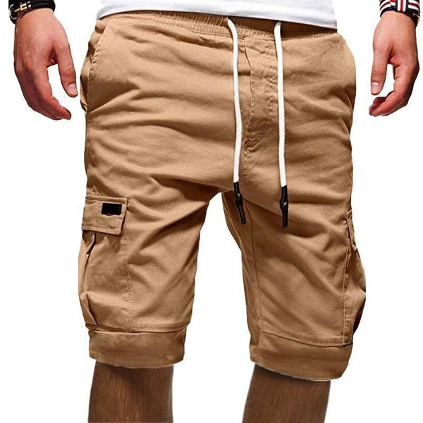 Men's Casual Multi-pocket Knee-length Shorts