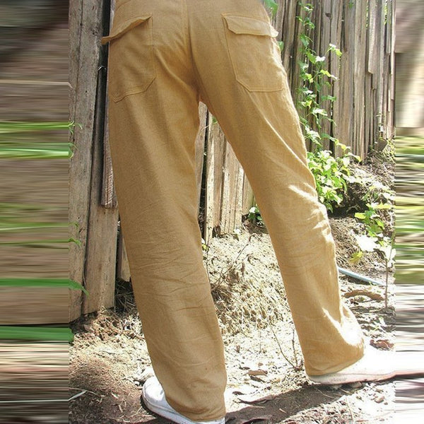 Men's Casual Solid Color Cargo Pants Outdoor Tooling Sweatpants