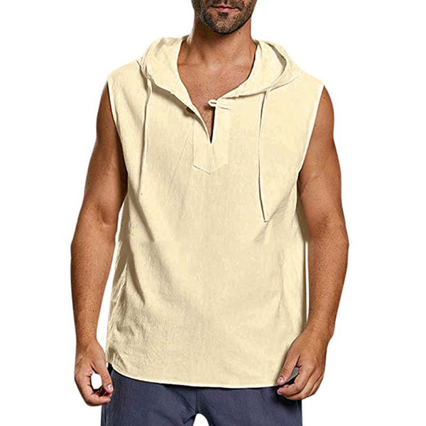 Men's Solid Color Collage Cotton Sports Vests